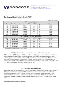 Ceník multifunkčních desek MFP