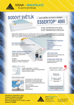 bodový světlík ESSERTOP - TITAN