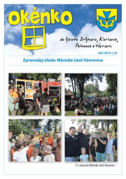 (září 2015)(PDF: 694.88 kB) - Městská část Vávrovice