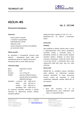 ASOLIN-WS - CAPRO spol. s ro