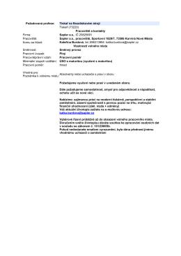 Požadovaná profese: Tiskař na flexotiskovém stroji Tiskaři (73220