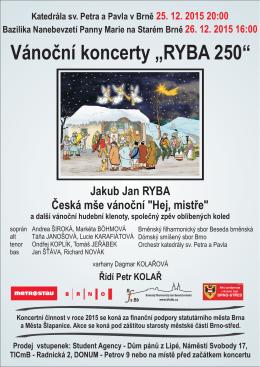 """Vánoční koncerty """"RYBA 250"""""""
