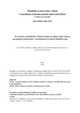 Mendelova univerzita v Brně Veterinární a farmaceutická univerzita