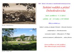 Setkání rodáků a přátel Dolnokralovicka