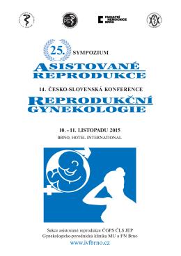 25. sympozium asistované reprodukce SAR ČGPS a 14. česko