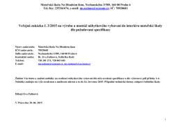 Veřejná zakázka č. 3/2015 na výrobu a montáž nábytkového