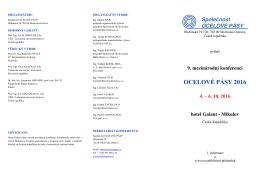 pozvánka - Společnost OCELOVÉ PÁSY