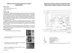 Elektrické schéma zapojení externího řízení výkonových stupňů s