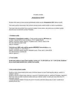 pravidla soutěže Klobáskobraní 2015 - CZ