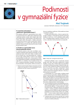 Podivnosti v gymnaziální fyzice