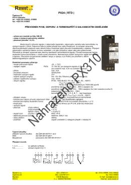 PX24 (RTD,Tc)