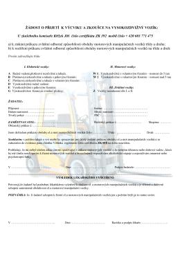 Lékařská prohlídka na nvý řidič.průkaz VZV tisk
