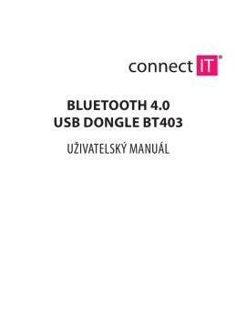 bluetooth 4.0 usb dongle bt403 uživatelský manuál
