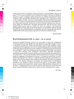 René Schumacker (28. 11. 1937 – 10. 2. 2015)