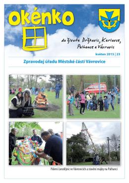 (květen 2015)(PDF: 774.78 kB) - Městská část Vávrovice