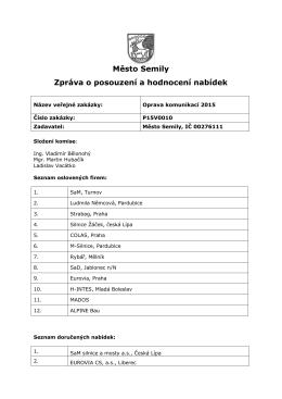 Zpráva o posouzení a hodnocení nabídek (23-06
