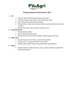 Ukázka programu školení 2015