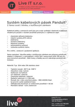 Systém kabelových pásek Panduit
