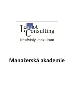 Manažerská akademie - Mgr. Stanislav Loskot, MBA