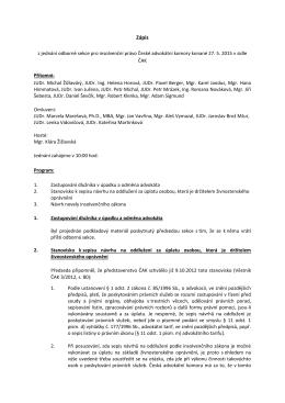 zápis z Odborné sekce ČAK - Asociace insolvenčních správců