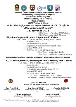 v této pozvánce - Severočeský letecký archiv Teplice