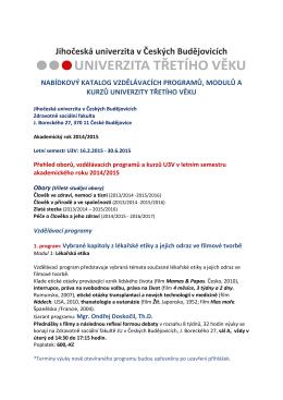 ZDE - Zdravotně sociální fakulta - Jihočeská univerzita v Českých