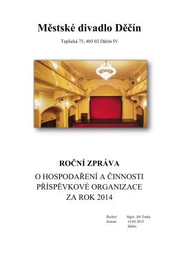 rocnizprava2014pdf - Městské divadlo Děčín
