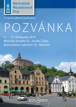 11. – 13. listopadu 2015 Městské divadlo Dr. Josefa