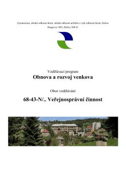 Obnova a rozvoj venkova 68-43