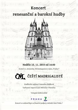 Koncert renesanční a barokní hudby