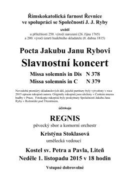 Leták koncert Regnis