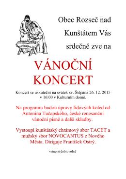 koncert rozsec6 - Rozseč nad Kunštátem