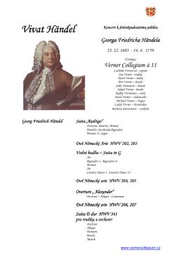 Handel výroční koncert