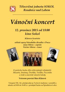 Vánoční koncert - Město Roudnice nad Labem