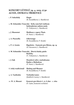 koncert učitelů 29. 4. 2015, 17:30 altán, ostrava