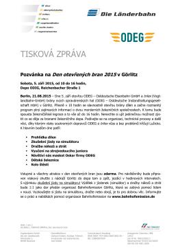 Pozvánka na Den otevřených bran 2015 v Görlitz