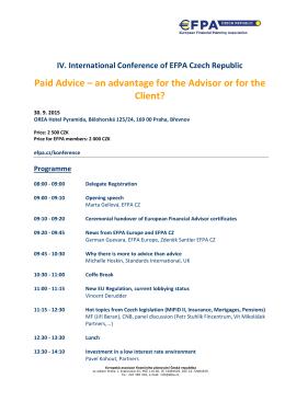 IV. EFPA konference 2015
