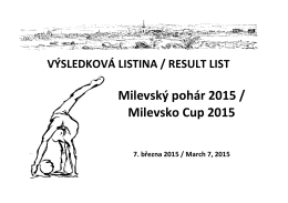 Milevský pohár 2015 / Milevsko Cup 2015