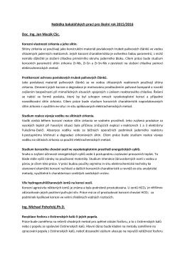 Nabídka bakalářských prací pro školní rok 2015/2016 Doc. Ing. Jan