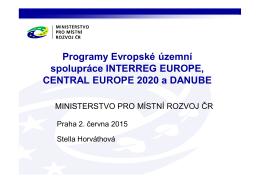 Programy nadnárodní spolupráce