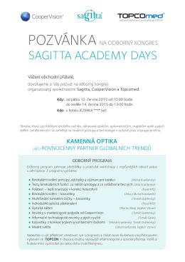 Pozvánka - Sagitta Ltd., sro