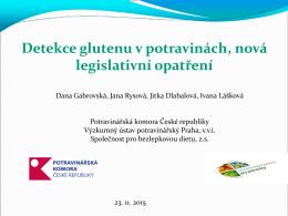 Detekce glutenu v potravinách, nová legislativní opatření
