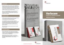 Variocem - aplikační brožura
