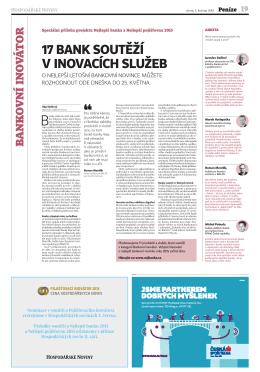 Příloha HN - Bankovní inovátor 2015