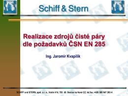 Realizace zdrojů čisté páry /Ing.J.Kvapilík, Schiff und Stern