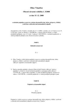 OZV č. 3/2008 ze dne 15. 12. 2008