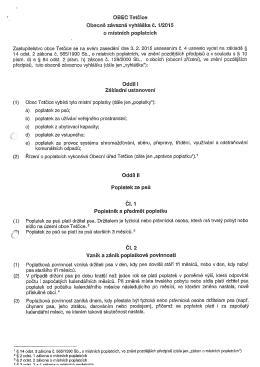 Vyhláška o místních poplatcích 1-2015