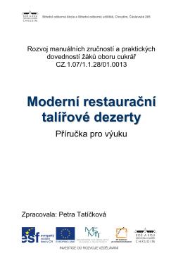 Moderní restaurační talířové dezerty 3