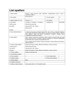 List opatření - Zveřejněné návrhy plánů povodí a plánů