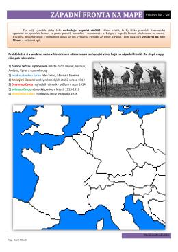 západní fronta na mapě
